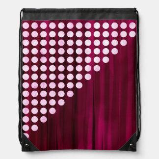 Painted Velvet Polka dot Pattern Drawstring Bag