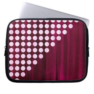 Painted Velvet Polka dot Pattern Laptop Sleeve