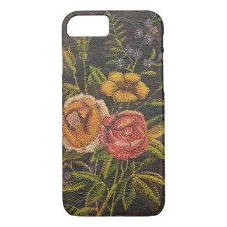 Painted Vintage Flowers Rose iPhone 7 Case