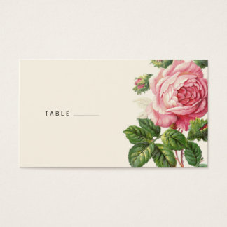 Painted Vintage Rose Boho Wedding Business Card