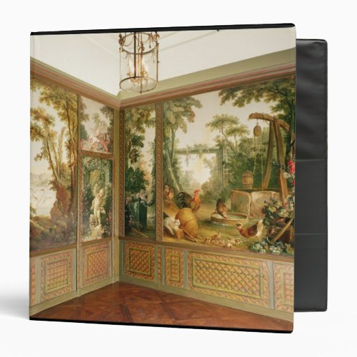 Painted wall panels in the Salon of Gille 3 Ring Binder