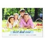 """Painted washi tape father's day Card 5"""" X 7"""" Invitation Card"""