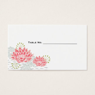 Painted Water Lilies - Table Numbers set of 100 Business Card