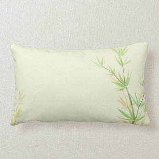 Painted watercolor card with wild stylized lumbar pillow