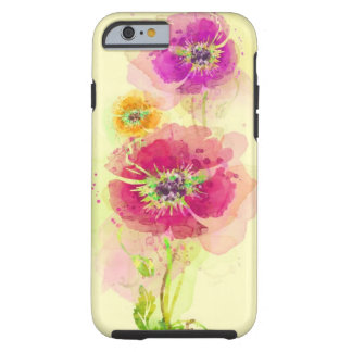 Painted watercolor poppies 2 tough iPhone 6 case