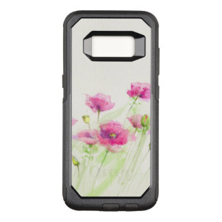 Painted watercolor poppies 3 OtterBox commuter samsung galaxy s8 case