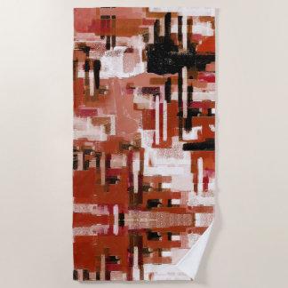 Painted Weave - Red Beach Towel