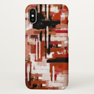 Painted Weave - Red iPhone X Case
