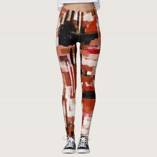 Painted Weave - Red Leggings