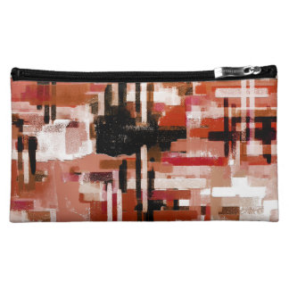 Painted Weave - Red Makeup Bag