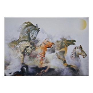 PAINTED WILD HORSES POSTER