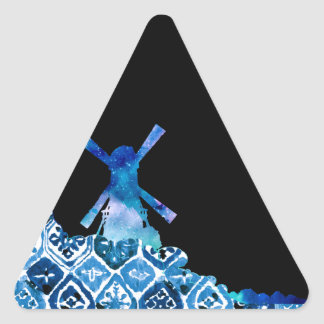 Painted Windmill Triangle Sticker