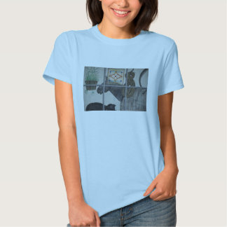 Painted Window Scene Cat And Horse Shirt