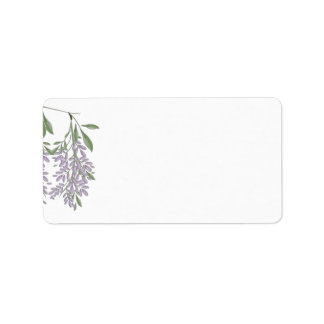 Painted Wisteria Address Labels