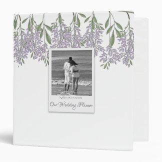 "Painted Wisteria Wedding Planner 1.5"" Binder"