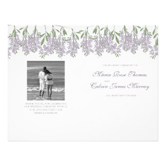 Painted Wisteria Wedding Program