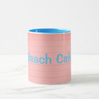 Painted-Wood_Beach-Cafe(c) Blue Text Color_Multi Mug