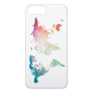 Painted World Map iPhone 8 Plus/7 Plus Case