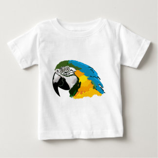 Painted Yellow Blue Macaw Parrot Baby T-Shirt