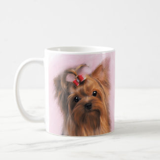 Painted Yorkshire Terrier Gift Mug