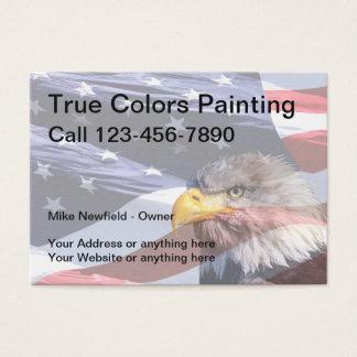 Painter Americana Theme Business Card