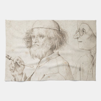 Painter and Connoisseur by Pieter Bruegel Kitchen Towel