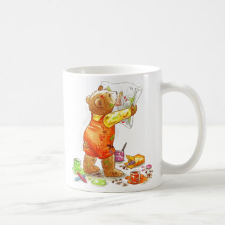 Painter Bear Coffee Mug