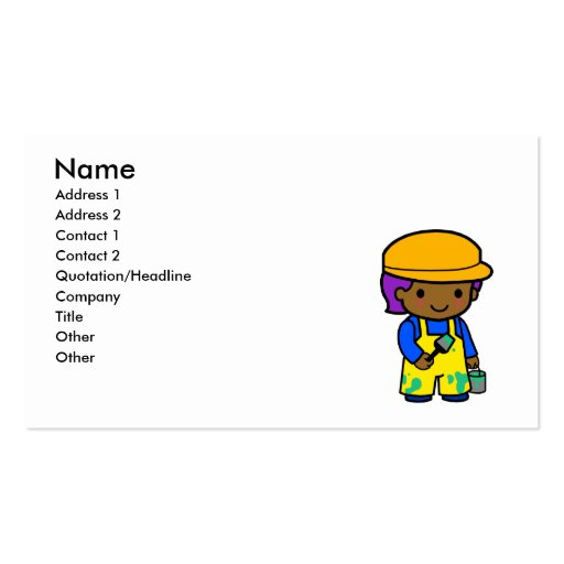 Painter Boy Business Card Templates