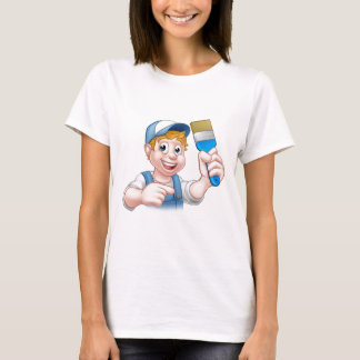 Painter Decorator Handyman Cartoon Character T-Shirt
