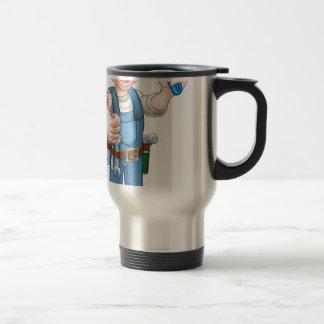 Painter Decorator Holding Paintbrush Travel Mug
