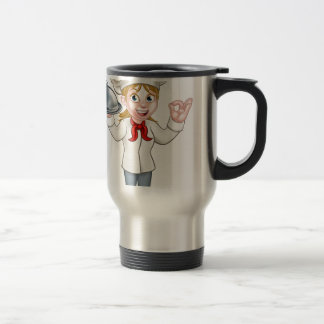 Painter Decorator Woman with Paintbrush Travel Mug