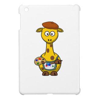 Painter Giraffe Cartoon iPad Mini Cover