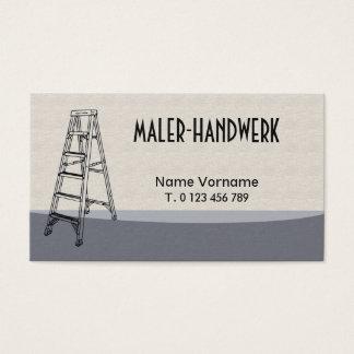 painter handicraft business card