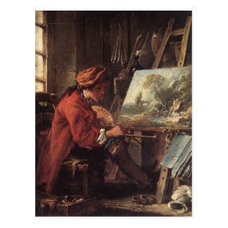 Painter in his Studio - François Boucher Postcard