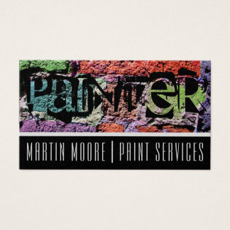 Painter paint job services colorful wall business card