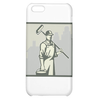 Painter Paint Roller Worker House Retro Case For iPhone 5C