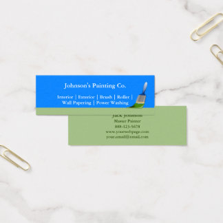 Painter Painting Paint Brush Mini Business Card