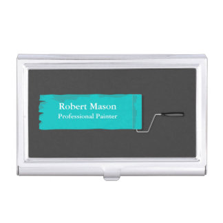 Painter Painting Paint Roller Business Card Holder
