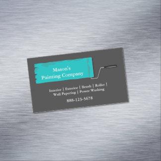 Painter Painting Paint Roller Business Card Magnet