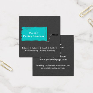 Painter Painting Paint Roller Square Business Card