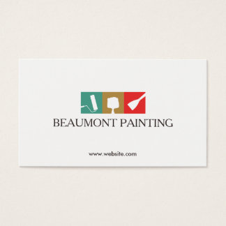 Painter Painting Tools Logo Business Card