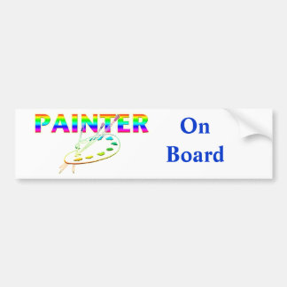 Painter Palette and Paint Brushes Bumper Sticker