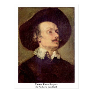 Painter Pieter Snayers By Anthony Van Dyck Postcard