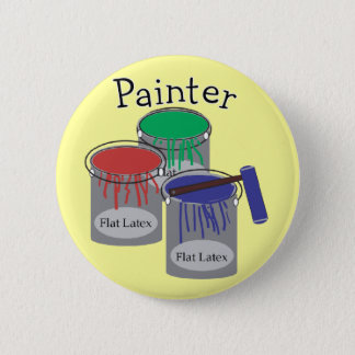 Painter Professional Gifts, Paint Can Graphics 2 Inch Round Button