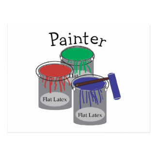 Painter Professional Gifts, Paint Can Graphics Post Cards