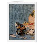 Painter who likes Cats, Utagawa Kuniyoshi Greeting Card
