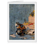 Painter who likes Cats, Utagawa Kuniyoshi Greeting Card