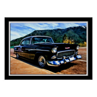 Painterly 1955 Chevy Belair Poster
