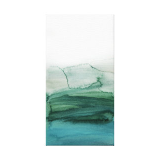 Painterly Abstract Landscape Canvas Print