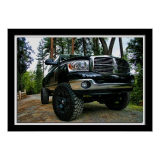 Painterly Dodge Ram Truck Poster